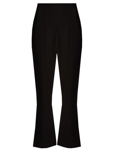 Altuzarra flare cropped black pants