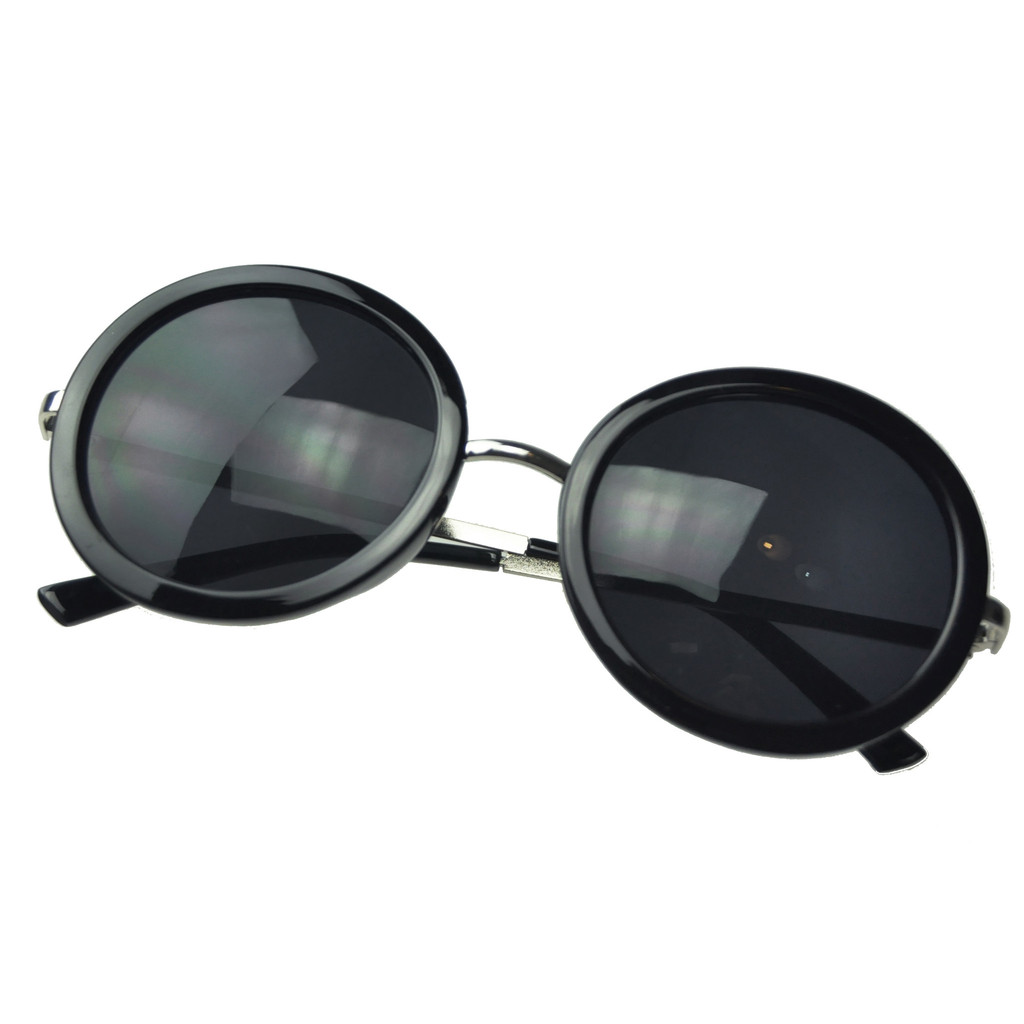 Round retro oversize sunglasses – holypink