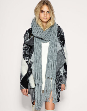 jacket grey jacket wool tribal pattern fall outfits winter outfits