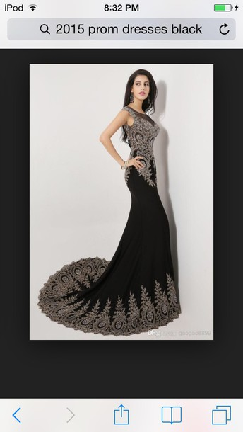 dress black dress mermaid prom dress