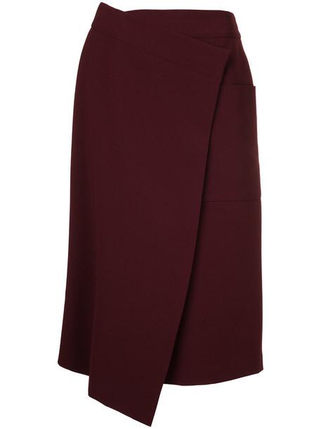 Le Ciel Bleu - wrap skirt - women - Triacetate/Polyester/Cupro - 36, Red, Triacetate/Polyester/Cupro