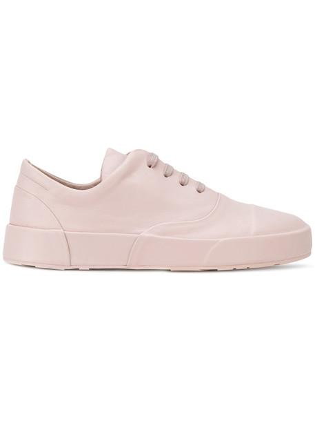 Jil Sander women sneakers leather nude shoes