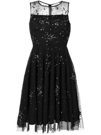dress embellished dress sheer women embellished black