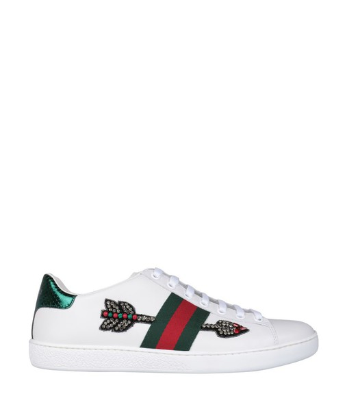 gucci embroidered sneakers leather shoes