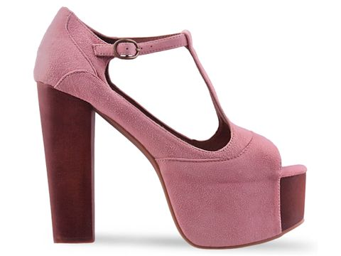 Jeffrey campbell foxy wood in pink suede at solestruck.com