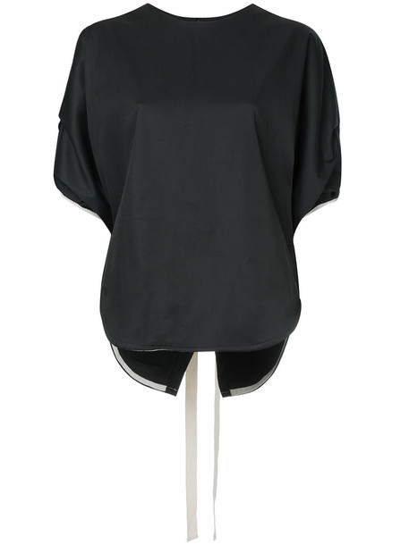 BASSIKE top cropped women cotton black