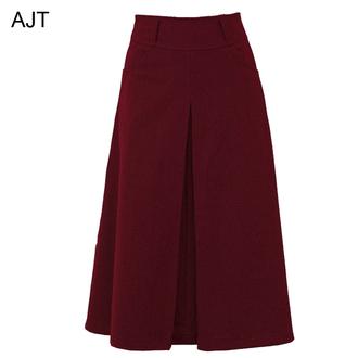skirt wool skirt long skirt wine red skirt fall skirt black wool skirt gray wool skirt green wool long skirt