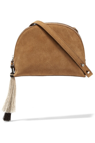 bag shoulder bag suede light brown