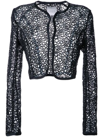 jacket cropped jacket cropped sheer women black