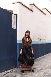 the fashion fraction,blogger,dress,skirt,bag,maxi dress,black bag,shoulder bag,gucci shoes,gucci