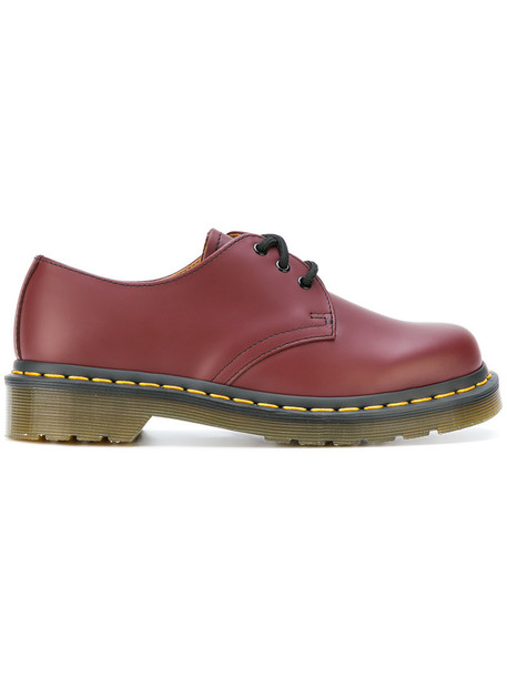 Dr. Martens women leather red shoes