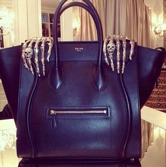 bag purse handbag black little black dress skull