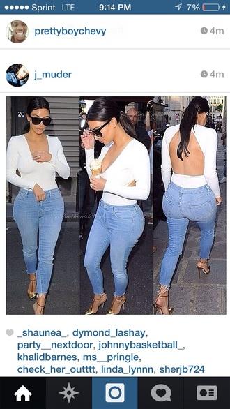shirt kim kardashian blouse jeans