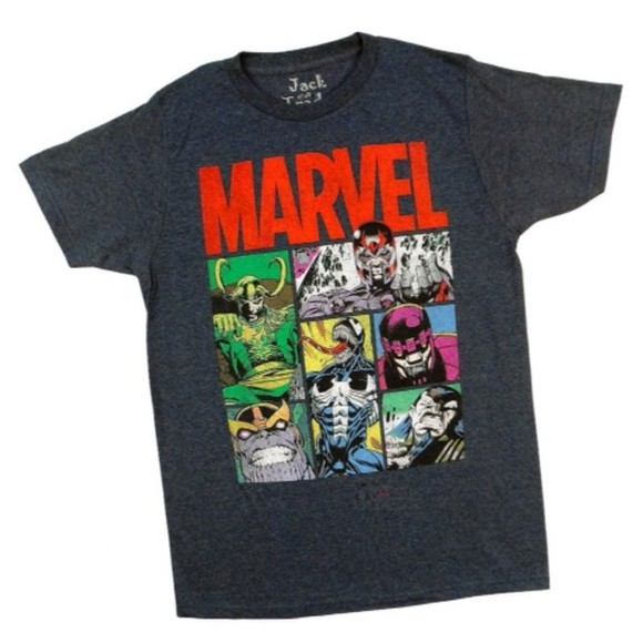 t-shirt marvel grey shirt superhero superheroes
