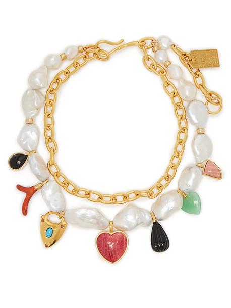 LIZZIE FORTUNATO Positano charm freshwater-pearl necklace