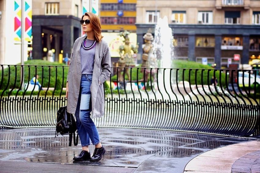 Loose Hallen Dark Jeans [FHBI0032]- US$62.99 - PersunMall.com