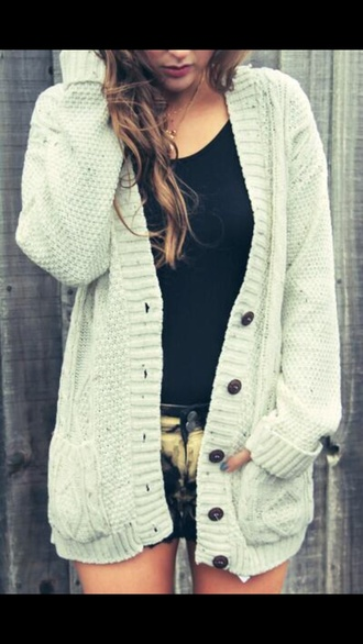 shorts sweater jacket white buttons