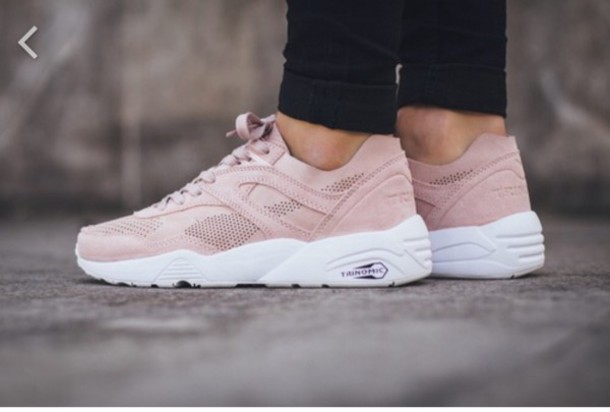 pink kylie jenner pink sneakers sneakers shoes trinomic puma beige white  girl women puma trinomic r698 d9ae8070c08a