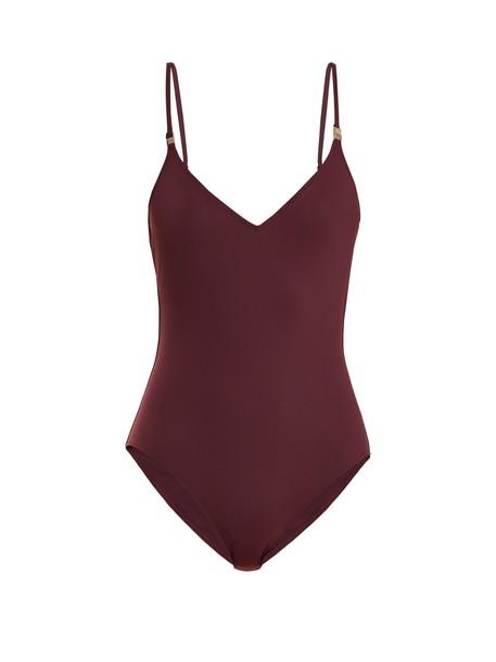 ON THE ISLAND burgundy swimwear