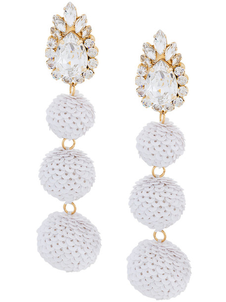 SHOUROUK women earrings white jewels