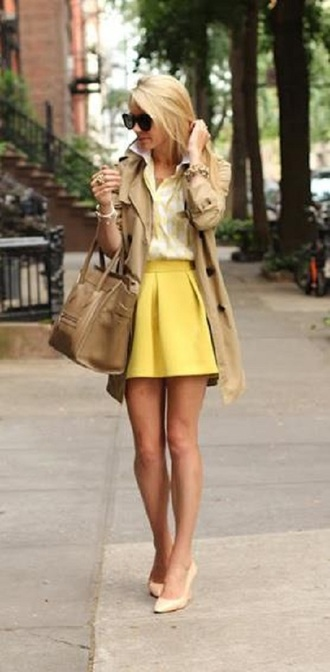 skirt circle skirt yellow yellow skirt coat