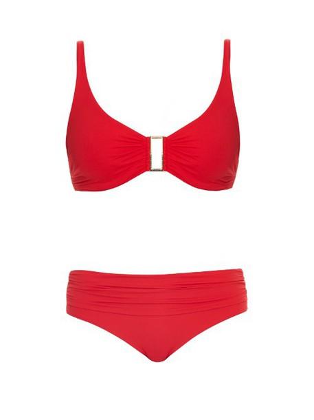 MELISSA ODABASH Bel Air shoulder-strap bikini in red