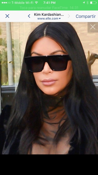 kim kardashian black sunglasses