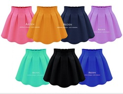 Online shop brand style 2015 fashion summer women high waist flared pleated skirt women's casual cotton mini skirt candy color skater saias