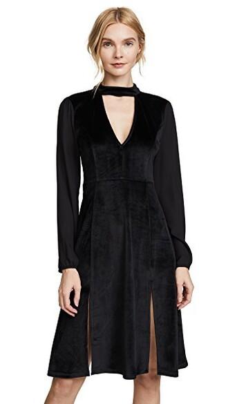 dress velvet dress velvet black