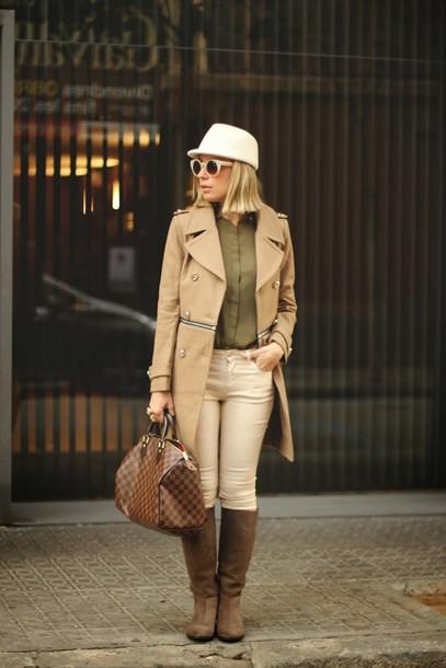 my showroom jeans shirt sunglasses coat shoes bag hat