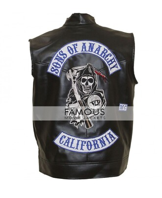 jacket sons of anarchy vest charlie hunnam jax sons of anarchy sons of anarchy