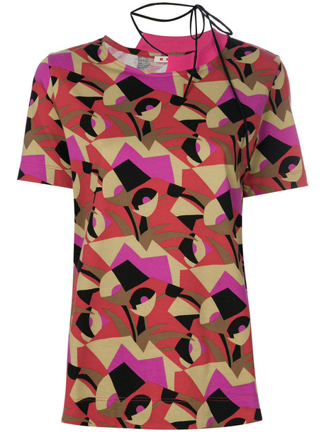 t-shirt shirt t-shirt women geometric cotton print top