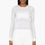 calvin klein collection white semi_sheer engineered stripes sweater
