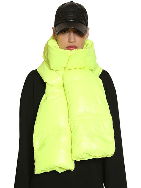 JUUN.J Nylon Down Hood Scarf in yellow