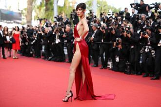 dress bella hadid cannes red dress high leg split bella hadid cannes bella hadid cannes nakes dress satin dress red satin dress low cut dress low cut maxi dress maxi dress side split side split maxi dress deep v dress deep v deep v neck dresses low cut red carpet dress red carpet red carpet celebrity dresses celebrity style