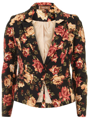 Black floral print blazer - View All Sale - Sale - Dorothy Perkins