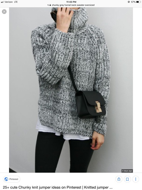 sweater grey marled chunky