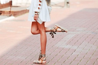 shoes white dress leopard print sandals bag gold jewelry dress leopars clothes pretty indie indian festival summer fashion