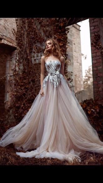 dress blush pink embellished dress silver prom dress pink prom dress