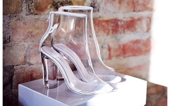 shoes clear boots see through transparent high heel boots clear heels