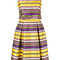 P.a.r.o.s.h. - paradise dress - women - cotton/polyester - xs, yellow/orange, cotton/polyester