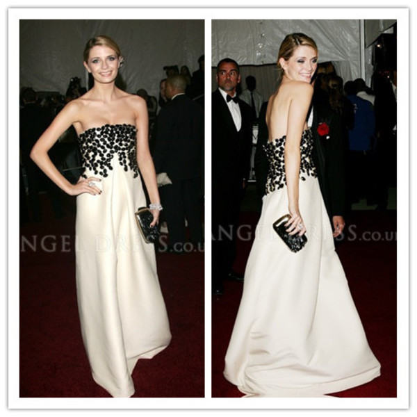 red carpet white dress black beaded white dress prom dress evening dress simple dress