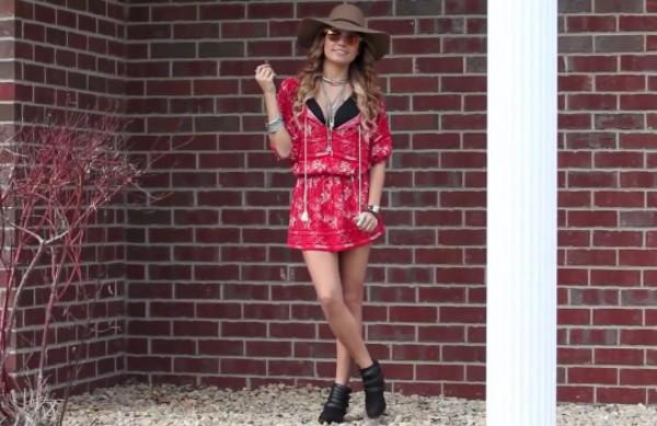 vanessa hudgens romper red dress