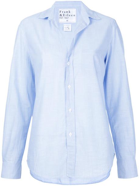 FRANK & EILEEN shirt women classic cotton blue top
