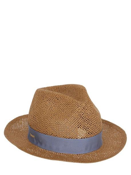 SUPERDUPER Papier Panama Straw Hat in blue / natural
