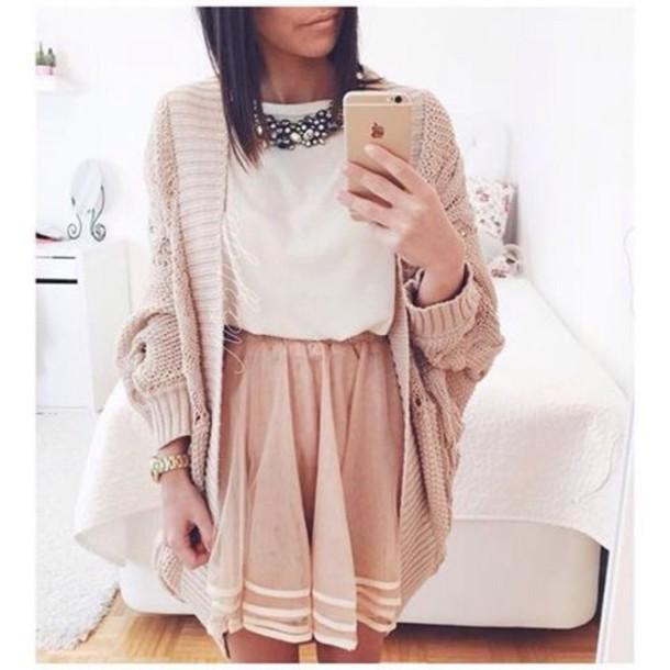skirt pale pink skirt