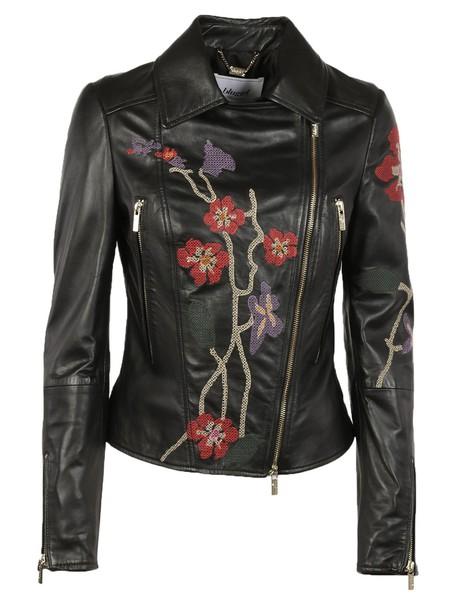 Blugirl jacket biker jacket embroidered