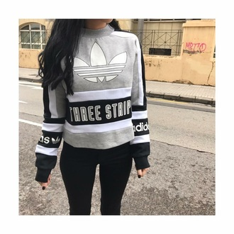 sweater grey sweater adidas adidas originals