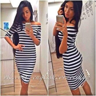 dress striped dress midi dress