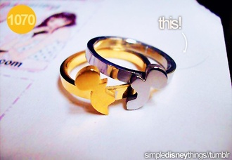 jewels ring disney mickey mouse gold bronze bff